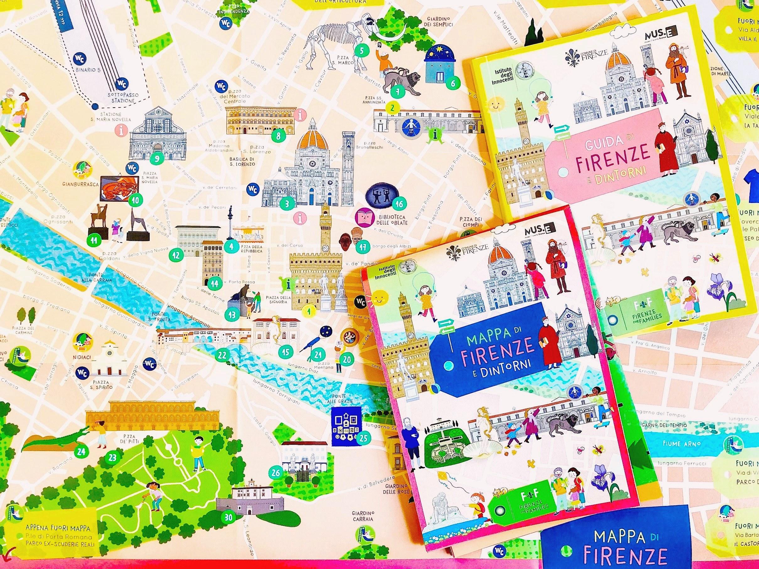 Cartina Citta Di Firenze.Firenze For Families Guida E Mappa Della Citta A Misura Di